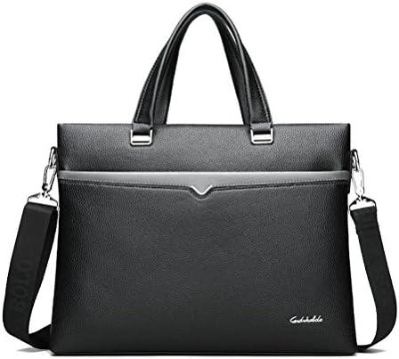 男性のビジネスバッグ革ハンドバッグコンピュータショルダーバッグ