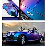 HOHO 1.52MX18M Lightning Metall Purple Blue Car Film Interior Exterior Body Stickers Foil Wrap Vinyl