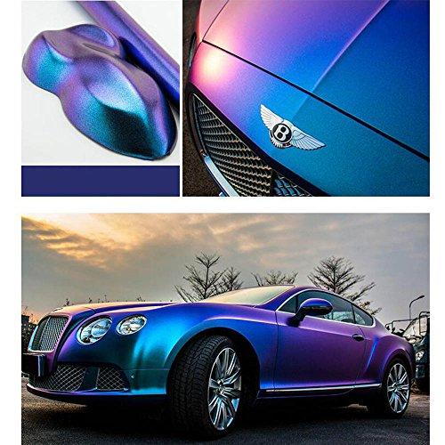 HOHO 1.52MX18M Lightning Metall Purple Blue Car Film Interior Exterior Body Stickers Foil Wrap Vinyl by HOHO