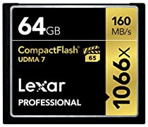 Lexar Professional 1066x 64GB VPG-65 CompactFlash card (Up to 160MB/s Read) w/Free Image Rescue 5 Software LCF64GCRBNA1066