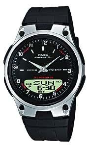 Casio CASIO Collection - Reloj analógico - digital unisex de cuarzo con correa de resina negra (luz, cronómetro, alarma) - sumergible a 50 metros