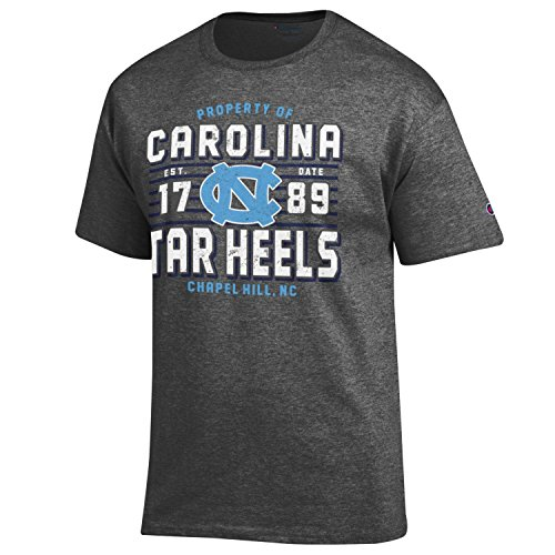 Champion NCAA Men's Lateral Short sleeve T-Shirt , North Carolina Tar Heels, Large, Heather Gray ()