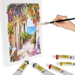 US Art Supply 12ML Oil Tube Artist Paint Set (24-Tubes)