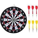 15 inch sport double target dart magnetic flocking dartboard board double thickening