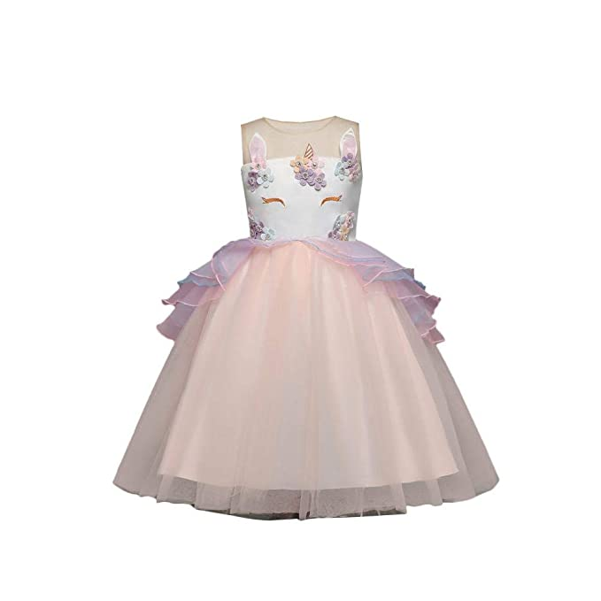 per Vestidos Ceremonia para Niñas de Boda Panquete Faldas Elegantes Princesa Dercorado con Cordón para Fiestas: Amazon.es: Ropa y accesorios