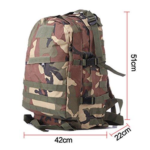 Sac en Capacité Commando Imperméable dos Qualité Militaire Camouflage Unisexe Sac Militaire Imperméable à WanYang Nylon de A nwx5SC