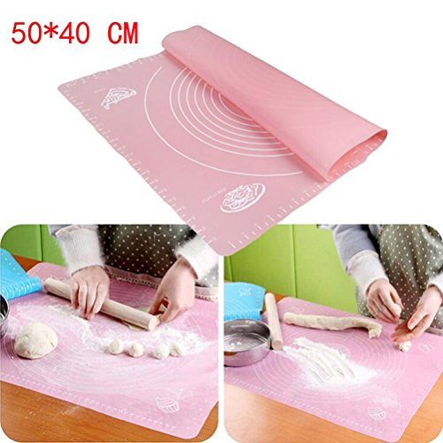Price comparison product image Pastry Rolling Mat,Sunfei Silicone Baking Mat for Pastry Rolling with Measurements,Rolling Kneading Mat
