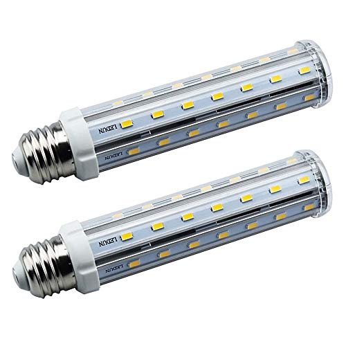 - Bonlux Screw Socket E26 Base T10 LED Tubular Light Bulb 15w Warm White 120 Volts 3000k LED Corn Bulb(15 Watts Pack of 2)