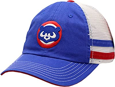 American Needle Chicago Cubs Snapback Trucker Mesh 84 Logo 2-Tone