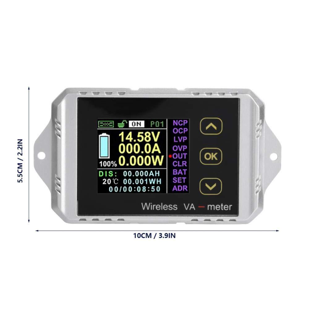 le courant la capacit/é de charge et de d/écharge Amp/èrem/ètre cc la puissance /écran couleur LCD sans fil /Écran cc de tension Amp/èrem/ètre wattm/ètre pouvant mesurer la tension VAT le wattheure