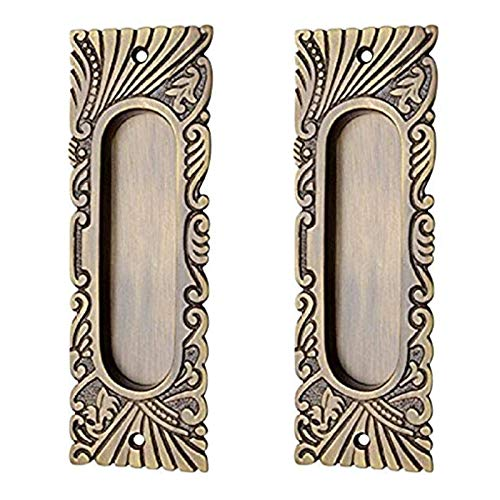 Adonai Hardware 155mm Hazaiah Brass Decorative Flush Pull (Supplied as 2 Pieces per Pack)