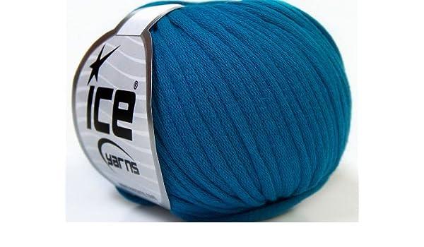 Lote de 8 madejas de hilos Tubo Algodón (70% algodón) mano tejer hilo azul: Amazon.es: Juguetes y juegos