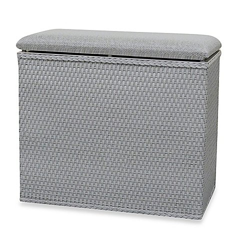 Lamont Home™ Barrington Bench Hamper in Grey by Lamont Home