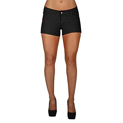 Basic Booty Shorts Premium Stretch French Terry with Gentle Butt Lift Stitching at Women's Clothing store