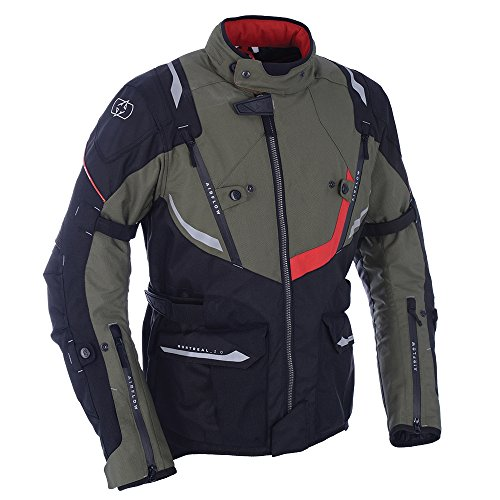 Oxford Montreal 3.0 Mens Waterproof Textile Motorcycle Jacket - Army Green XL ()