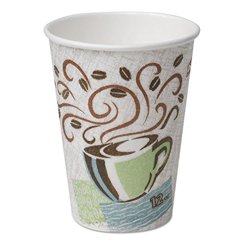 Dixie - PerfecTouch Hot Cups, Paper, 8 oz., Coffee Dreams Design, 50/Pack - Dixie Paper Water Cups