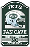 "NFL New York Jets 05947010 Wood Sign, 11"" x 17"", Black"