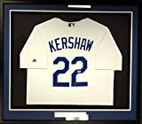 Clayton Kershaw Autographed White Los Angeles Dodgers Majestic Cool Base Framed Jersey PSA/DNA ITP