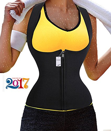 Sauna Waist Trainer, Ursexyly Hot Cincher Promotes Sweating during Exercise (L, Black) (Magic Waist Trainer)