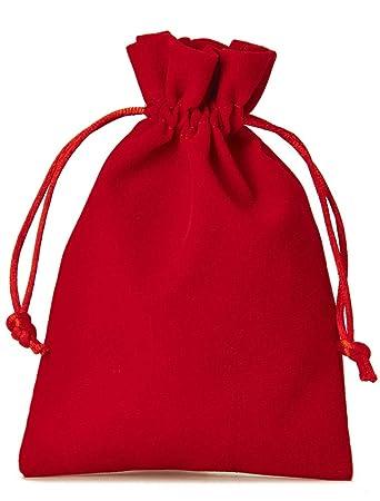12 bolsitas de terciopelo con cordón para cerrar, tamaño 15x10 cm, bolsa para regalos de navidad, cumpleaños, joyas y otros detalles hechos a mano ...