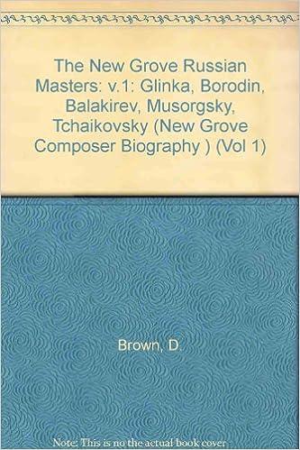 Download The New Grove Russian Masters 1: Glinka, Borodin, Balakirev, Musorgsky, Tchaikovsky (New Grove Composer Biography) PDF, azw (Kindle), ePub, doc, mobi
