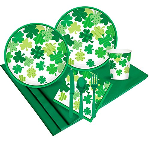 Happy St Patrick's Day Shamrocks Party Supplies - Party Pack (18)