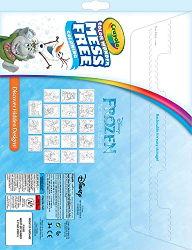 Crayola Color Wonder Frozen Coloring Book & Markers, Mess Free Coloring, Gift for Kids, Age 3, 4, 5, 6