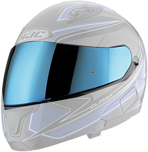 HJC HJ-17 Pinlock Ready RST Shield IS-MAX BT Street Bike Racing Motorcycle Helmet Accessories - Blue / One Size Fits Most by HJC (Racing Shield)