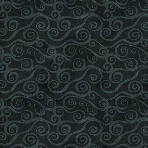 - Wilmington Prints Essentials Black Waves