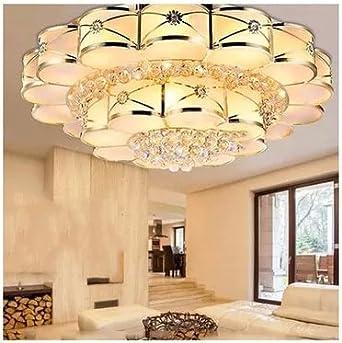 DKSJ Wohnzimmer Lampe Citrine Runde Led Lampen Reines Kupfer Solder Licht Schlafzimmer Luxus