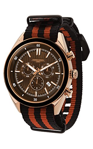 Jorg Gray Chronograph Two-Tone Nato Strap Men's Watch JG6900-21N
