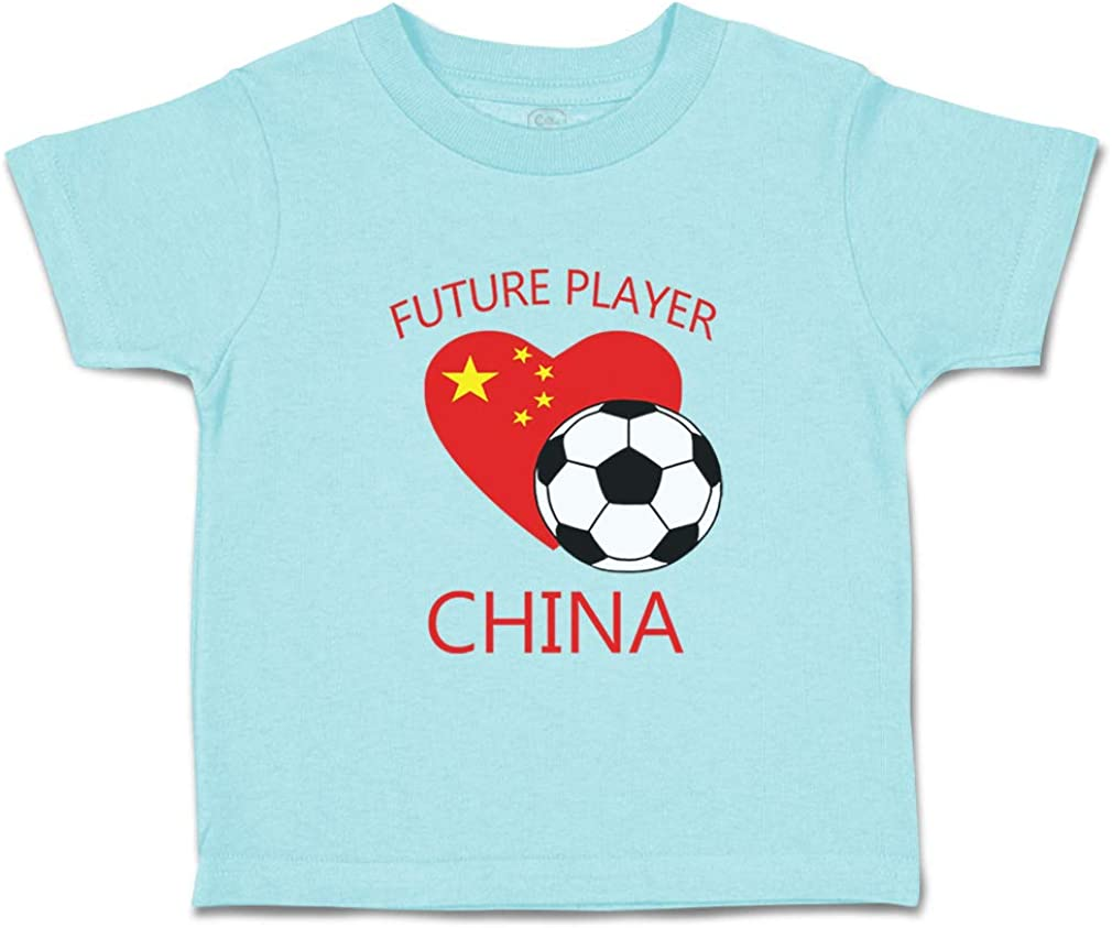 Custom Baby /& Toddler T-Shirt Future Soccer Player China Cotton Boy Girl Clothes