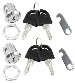 com-four® Cerraduras de buzón 2, Cerradura de Muebles con Llave, 20 mm (02 Piezas - 20 mm): Amazon.es: Hogar