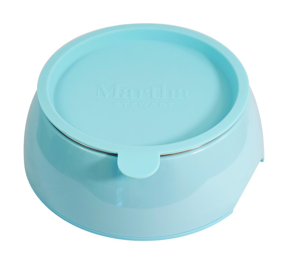 Martha Stewart Melamine Stainless Steel Pet Bowl Set with Lid