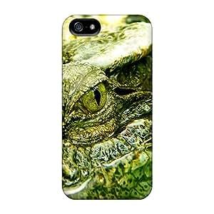 Defender Case For Iphone 5/5s, Crocodile Dangerous Eyes Pattern
