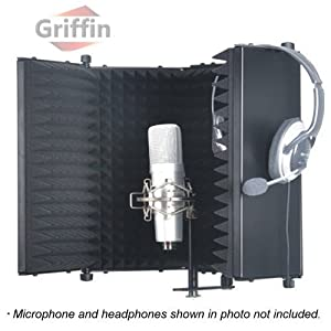 studio microphone diffuser isolation sound absorber foam panel shield stand mic. Black Bedroom Furniture Sets. Home Design Ideas