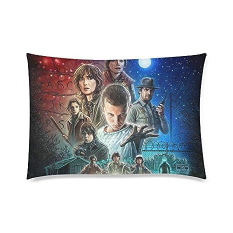 Trendsetter Horror Film Stranger Things Custom Zippered Pillowcase(Fundas para almohada)Pillow cases(Fundas para almohada) Cover Standard Size ...