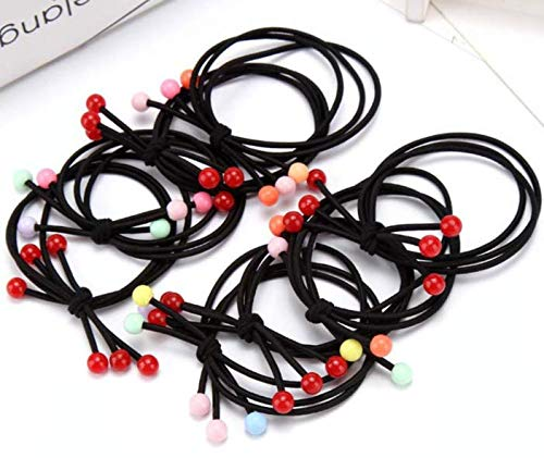 Girl Lady Cherries Ball Hair Ties Elastic Ponytail Holder Rubber Band Hair Accessories 8PCs