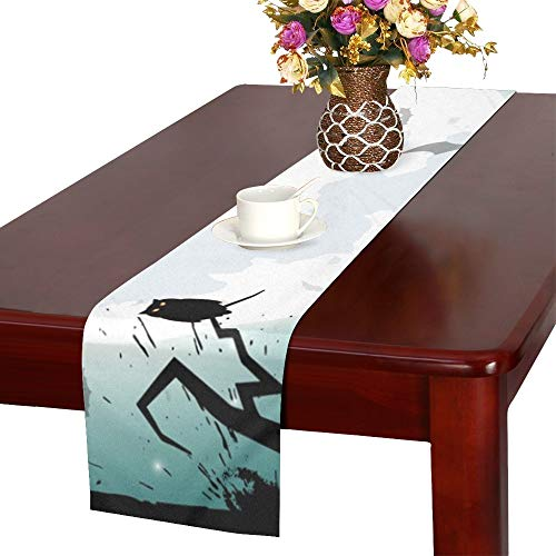 Halloween Night Concept Poster Table Runner, Kitchen Dining Table Runner 16 X 72 Inch for Dinner Parties, Events, Decor ()