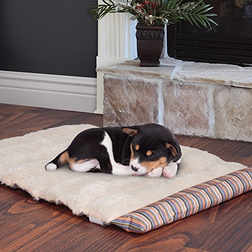 PETMAKER Roll Up Travel Portable Dog Bed, Coral Stripe ()