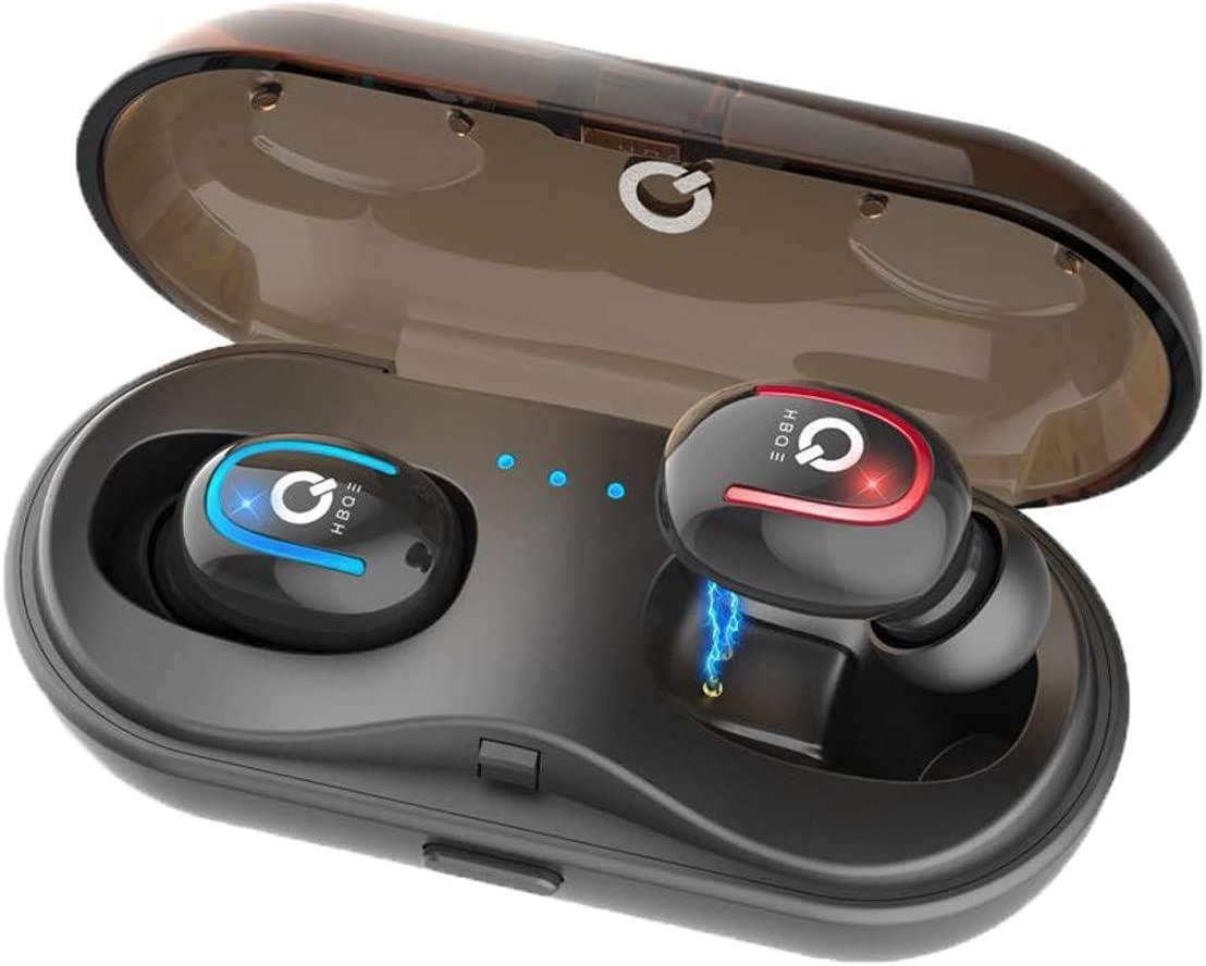 Leynatic Auriculares Bluetooth, Auriculares Inalámbricos Bluetooth 5.0 en el Oído Sonidos Estéreo 3D Micrófono Mini TWS con Estuche de Carga, para Corriendo / Gimnasio/ Baja Latencia