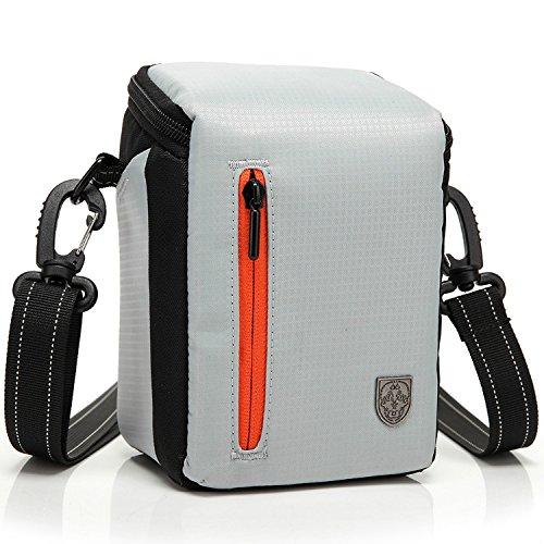 First2savvv BDV2505 white luxury quality anti-shock Nylon camera case bag for panasonic HC-V130EB-K HC-V250EB HC-V550CT HC-V750EB-K HC-W850EB-K JVC GZ-RX115BEU GZ-RX110BEU GZ-R15BEU GZ-R15REU GZ-R10SEU with LENS Cleaning Cloth