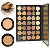 Image of DE'LANCI 35 Colors Eyeshadow Makeup Palette Matte Shimmer Multi-colors Cosmetic Eye Shadows Kit ( 35F+)