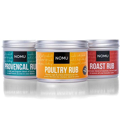 NOMU Rub Poultry Trio Set - Roast, Poultry & Herbes de Provence Seasonings (3-pack) - Premium Blends of Herbs & Spices - No MSG or Preservatives