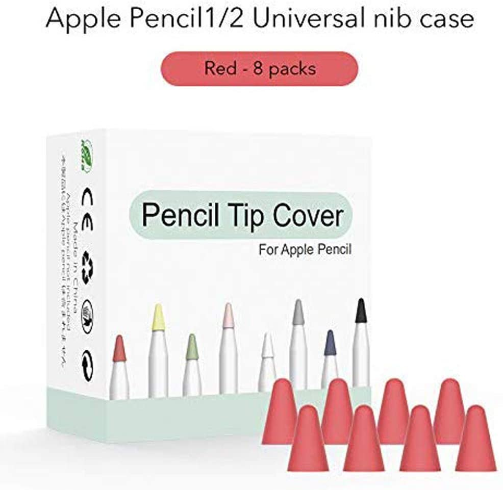 Pink Silicone Pencil Nib//Tip Protector Cap Compatible Apple Pencil 1st//2nd Replacement Cover 8 Pack