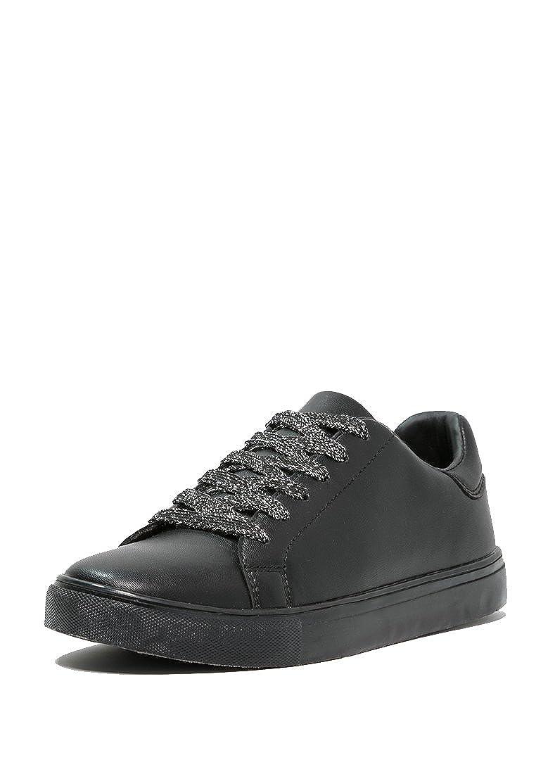 Even&Odd - Sneaker da donna, scarpe da ginnastica, sneaker da donna, metalliche, stringate basse Nero