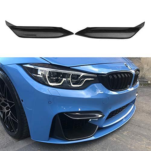 For BMW M3 M4 F80 F82 F83 2 pcs carbon fiber front bumper lip air canards front splitter