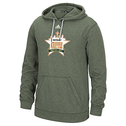 Adidas All Star Shirt - adidas WNBA Playoffs All Star Logo Ultimate Hood Shirt, X-Large, Earth Green Melange