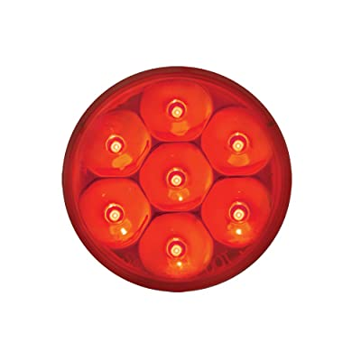 """Grand General 76542 Red 2"""" Low Profile Pearl 7-LED Marker and Clearance Sealed Light: Automotive"""