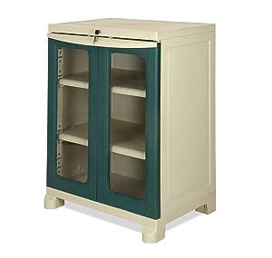 Nilkamal Olive Green Plastic Freedom Small Cabinet